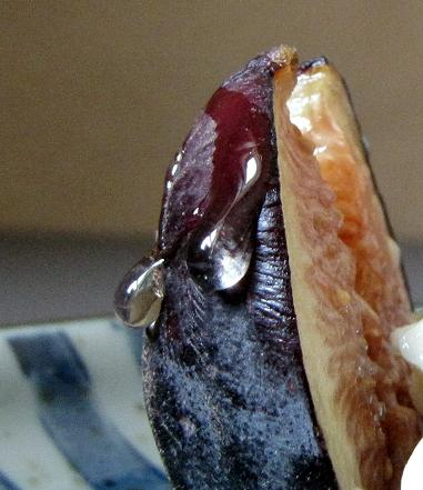 Roasted Black Mission Figs with Gorgonzola and Honey
