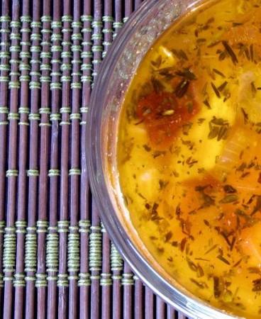 smoky sweet potato turkey soup