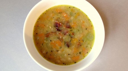 White Bean Soup with Bacon, Thyme and Rosemary