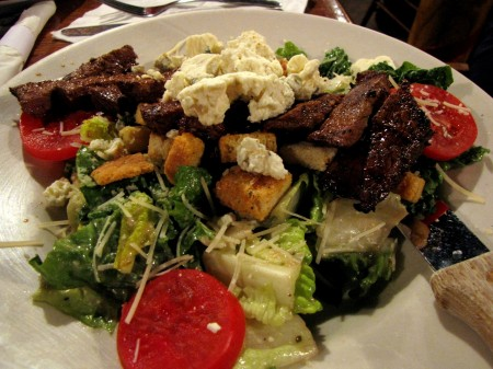 LBC's Black & Bleu Steak Caesar Salad