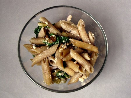Whole Wheat Penne Pasta Salad with Walnuts and Feta