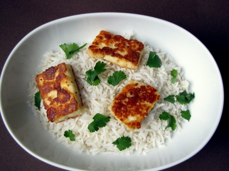 Caramelized Indian Paneer Cheese